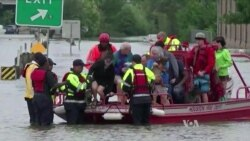 'ہیوسٹن سیلابی پانی میں ڈوبا ہوا ہے'