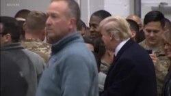 U.S. President Visits Troops in Germany
