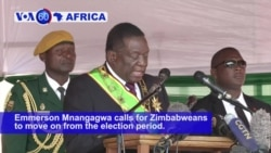 VOA60 Africa - Zimbabwe Waits as Presidential Poll Challenge Delays Inauguration