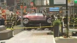 Car Crash in Times Square New York City