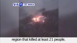 VOA60 World-At least 21 dead in plane crash in northern Pakistan