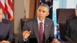 نخستین دیدار رییس جمهوری با رهبران صدو چهاردهمین کنگره آمریکا