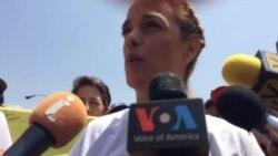 Lilian Tintori pide continuar las protestas