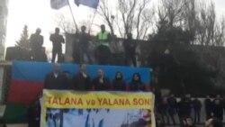 """Milli Şuranın sədri Cəmil Həsənlinin """"Talana Son!"""" şüarı ilə keçirilən mitinqdə çıxışı-2"""