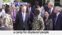 VOA60 Africa - Diplomats Meet Displaced Nigerians in Maiduguri