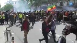 Paris'te 1 Mayıs Gösterilerinde Çatışmalar Çıktı