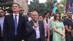 Cəmil Həsənlinin Respublika Günündə Novxanıda çıxışı