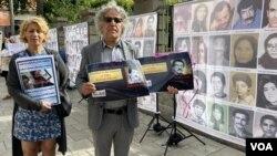 یادمان قربانیان کشتارهای جمهوری اسلامی همزمان با دادگاه حمید نوری (آرشیو)