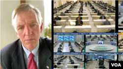 پل گوسار عضو کنگره از طریق ویدئو کنفرانس پیام داد.