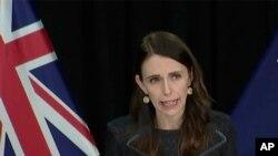 Thủ tướng New Zealand Jacinda Ardern trong cuộc họp báo tại Wellington, New Zealand, ngày 11/8/2020.