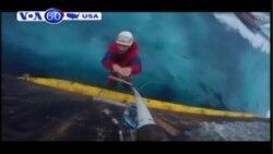 Tổ chức Greenpeace phản đối kế hoạc khoan dầu của Shell (VOA60)