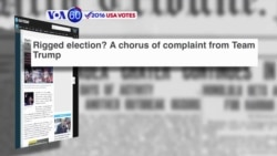 VOA60 Elections - USA Today: Donald Trump continues to assert that the U.S. election is rigged against him