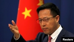 Juru bicara Kementerian Luar Negeri China, Zhao Lijian di Beijing, 8 April 2020. (Foto: dok).
