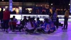 纽约的残障青少年冰球队