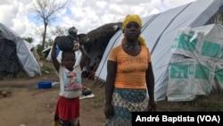 Metuge: Campo de deslocados do centro agrário de Napala, onde estão alguns deslocados da insurgência em Cabo Delgado. Moçambique