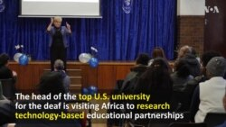 Head of Top US University for the Deaf Visiting Africa