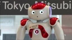 Robot Bank Teller in Tokyo Helps Human Customers