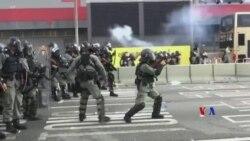 2019-10-01 美國之音視頻新聞: 香港爆發大範圍示威抗議 報導說實彈擊中一人