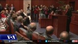 Mogherini flet para Parlamentit të Maqedonisë