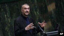 호세인 아미르압둘라히안 이란 외무장관.