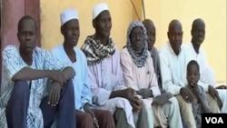 FILE - Former Boko Haram fighters are seen in Meri, Cameroon, April 9, 2021. (Moki Edwin Kindzeka/VOA)