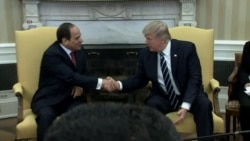 Trump: 'Very Much Behind' Egypt, President Sissi