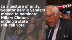 In Gesture of Unity, Sanders Nominates Clinton