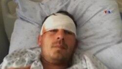 Yaralanan mülki vətəndaşlar Ağdamda baş verənləri jurnalistlərə danışır
