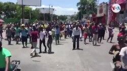 Ayiti: Abitan Kafoufèy Manifeste pou Pote Sipò yo Bay Enspetè Polis Cherubin Joël