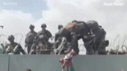 Lính Mỹ giúp phụ nữ, trẻ sơ sinh Afghan vượt tường vào sân bay