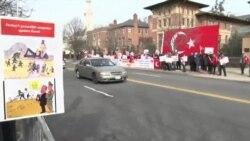 Türkiye Büyükelçiliği Önünde 'Güneydoğu' Protestosu