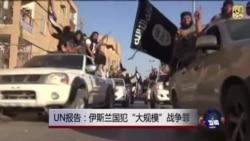 """联合国:伊斯兰国犯""""大规模""""战争罪"""