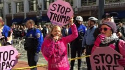Code Pink Protests Trump at AIPAC