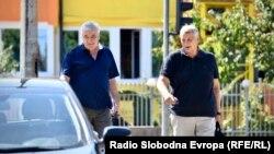 Advokat Miodrag Stojanović i Milomir Savčić dolaze u Sud Bosne i Hercegovine, august 2021.