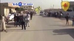 VOA60 Duniya: Siriya Zata Baiwa Sojojin Kurdawa Ikon Shigowa Kasarta Don Yakar ISIL, Siriya, Oktoba 20, 2014