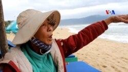 Bờ biển Đà Nẵng lở lói
