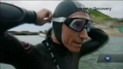 Плавець-марафонець збирається переплисти Тихий океан. Відео