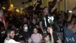 Manifestan Pran Lari ak Kè Kontan nan Pòtorico Apre Gouvènè Ricardo Rosello Fin Anonse Demisyon l
