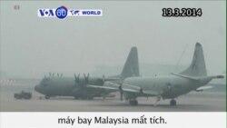 Tàu chiến Mỹ tham gia xác định vị trí máy bay Malaysia (VOA60)