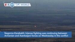 VOA60 Addunyaa - Intense fighting was continuing between Armenian and Azerbaijani forces in Nagorno-Karabakh