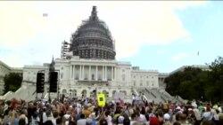 美茶党人士聚集国会山抗议伊朗核协议