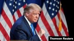 도널드 트럼프 미국 대통령이 24일 노스캐롤라이나주 샬럿에서 열린 공화당 전당대회에서 개막 연설을 했다.