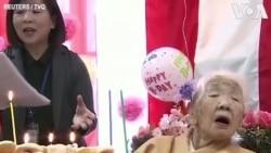 Mừng thọ cụ bà lớn tuổi nhất thế giới
