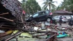 2018-12-24 美國之音視頻新聞: 印尼確認海嘯造成至少281人喪生逾千人受傷