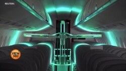 ہوائی جہازوں کو جراثیم سے پاک کرنے والا روبوٹ
