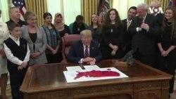 特朗普在白宮與各宗教信仰學生慶祝國家宗教自由日