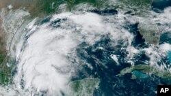 Ova satelitska snimka prikazuje Tropsku oluju Nicholas u Meksičkom zalivu, 12. septembar 2021. godine.