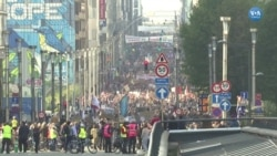 BM İklim Zirvesi Öncesinde Brüksel'de Gösteri
