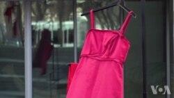 国立美国印第安博物馆外红裙飘扬 纪念原住民妇女