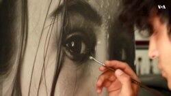 هنرمند افغان در نقاشی سیاه قلم مقام نخست را گرفت